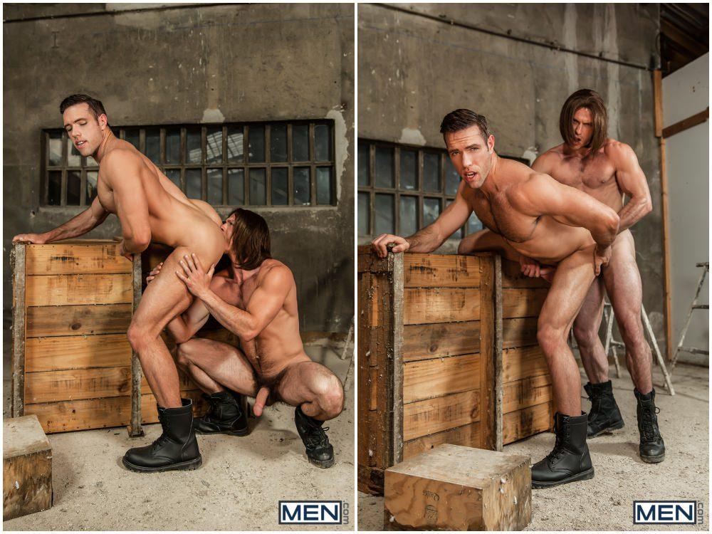 Captain America A Gay XXX Parody part 3, Paddy O'Brian fucks Alex Mecum, horny hunks anal sex, MEN.com free gay porn videos and pics.5