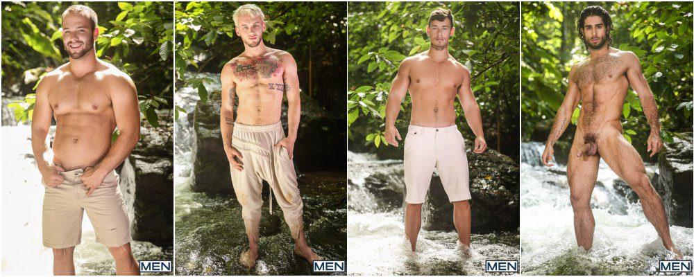 Outdoor jungle hunks & jock orgy, Tarzan A Gay XXX Parody part 3, muscle men anal sex fucking, group sex, MEN free gay porn videos and pics.3