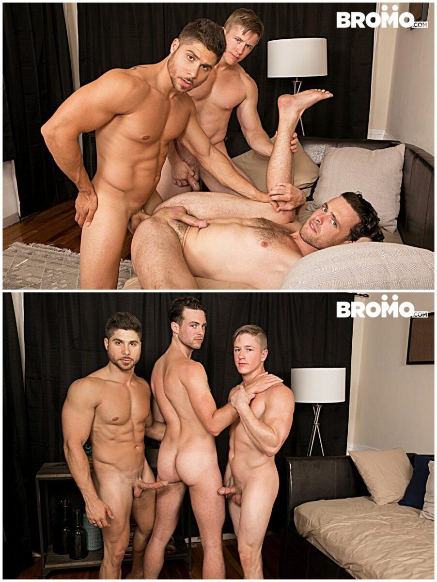 bareback threesome Raw Obsession part 4, horny hunks and studs fucking, Chris Blades, Fabio Acconi, Brandon Moore, Bromo xxx free gay porn videos and pics.7