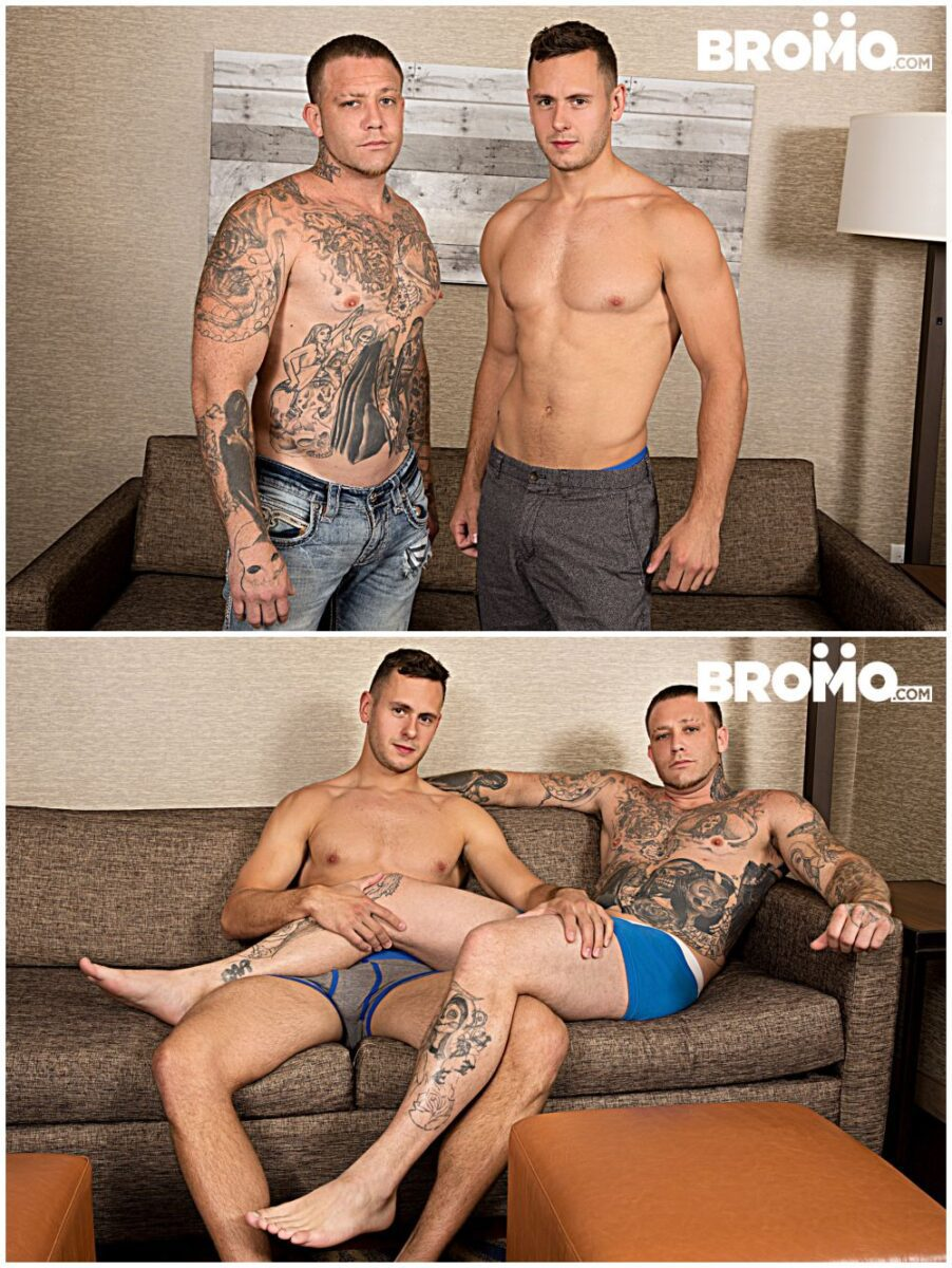 Brenner Bolton likes it rough and raw, inked hunk Gage Uncut fucks muscle jock bareback, creampie breed cum, Bromo xxx free gay porn videos and pics.2