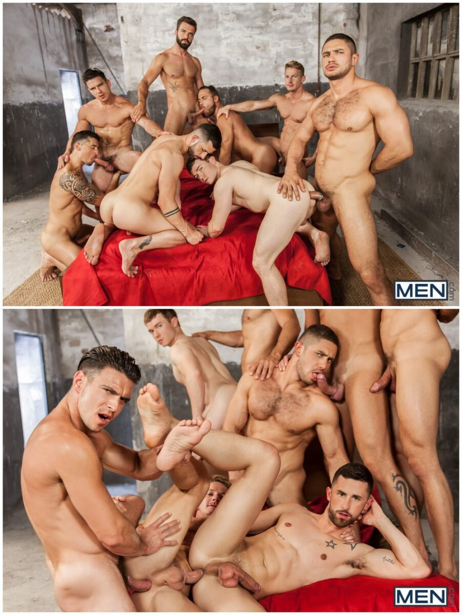 Epic eight man orgy scene Sense 8 Gay XXX parody, hunks and jocks group sex gang bang, threeway fuck train, Paddy O'Brian, Gabriel Cross, Darius Ferdynand, MEN.com xxx free gay porn videos and pics.8