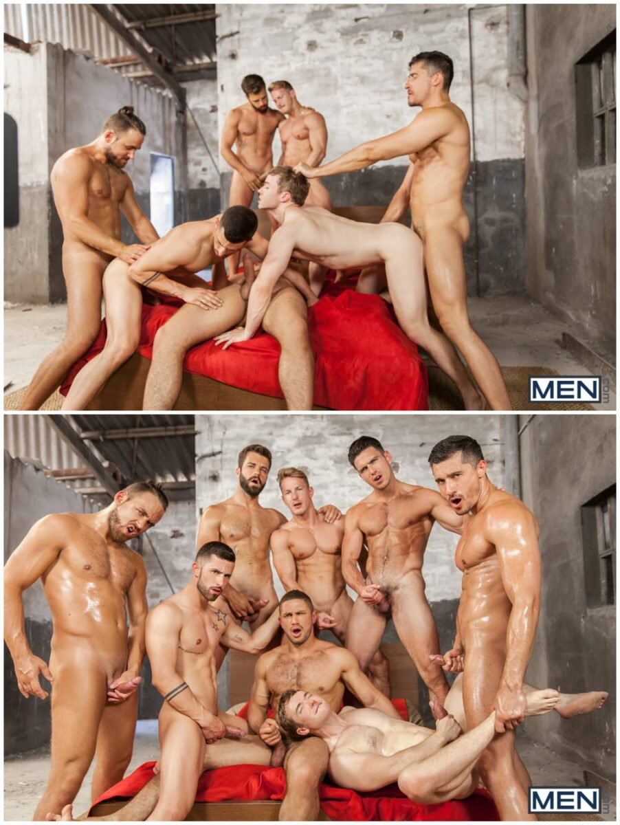 Epic eight man orgy scene Sense 8 Gay XXX parody, hunks and jocks group sex gang bang, threeway fuck train, Paddy O'Brian, Gabriel Cross, Darius Ferdynand, MEN.com xxx free gay porn videos and pics.9