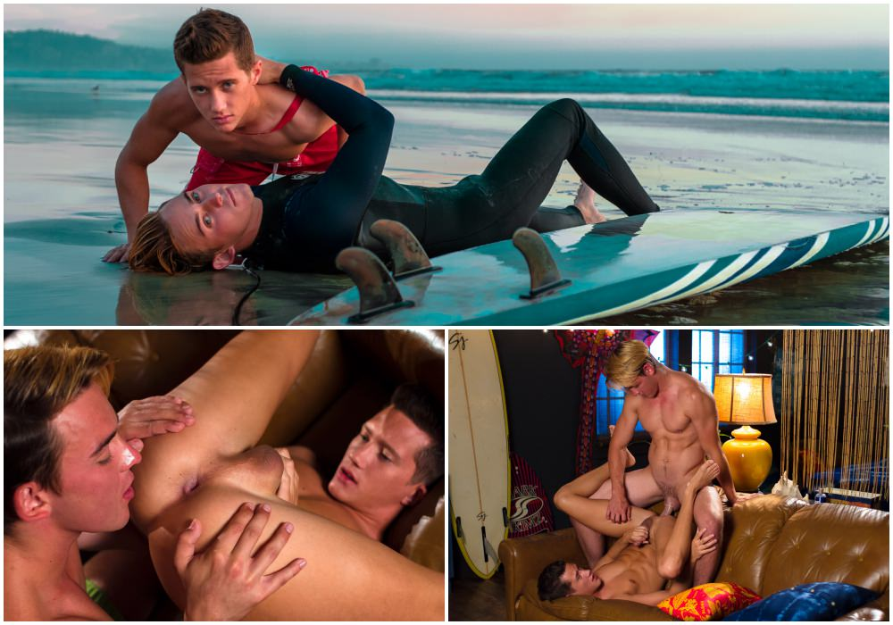 Josh Brady fucks Tyler Hill, Lifeguards Summer Session, scene 2, horny twinks fucking, surfer boy wetsuit, anal sex big dicks bubble butt, Helix Studios xxx fre egay porn videos and pics.1