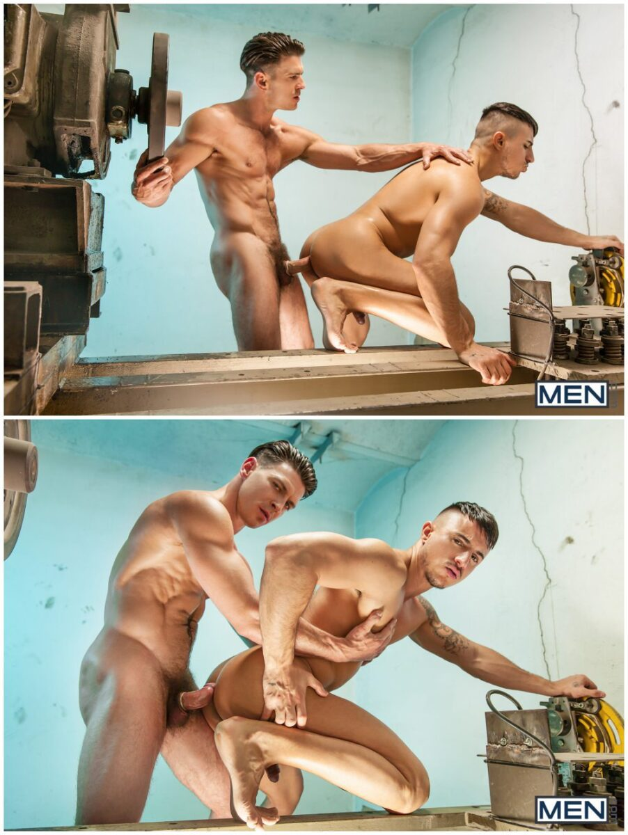 Paddy O'Brian & Klein Kerr The Weekend Away, muscle hunks fucking, inked studs anal sex, MEN.com xxx free gay porn videos and pics.7
