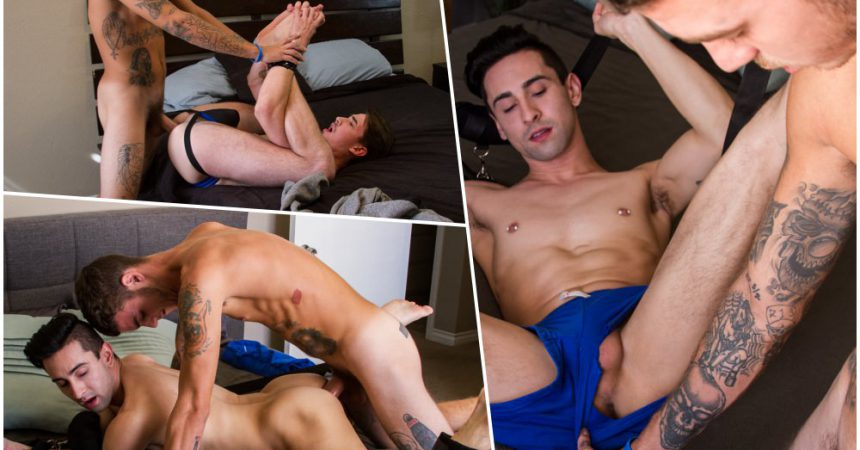 Inked Jock Dax Gets A Bareback Surprise!