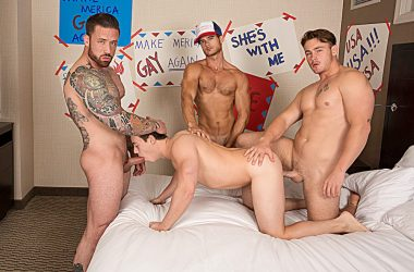 Tobias Gets A Bareback Gang-Bang