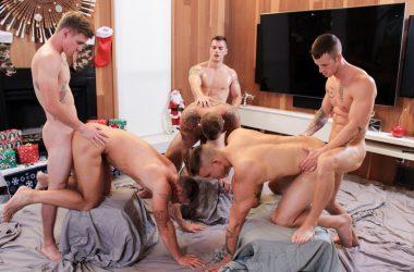 Six Stud Bareback Orgy