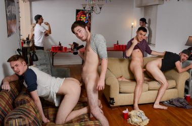 Frat-Boy Four-Way Fuck-Fest!