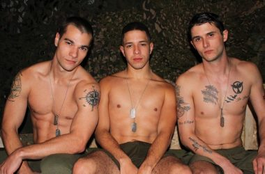 Active Duty Bareback Threesome