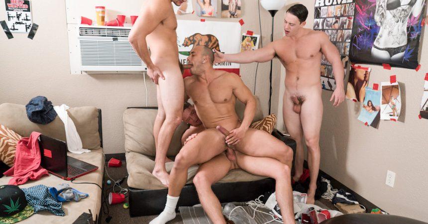 Bareback Frat-House Foursome