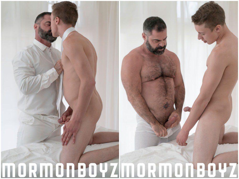 Gay bear fucks mormon