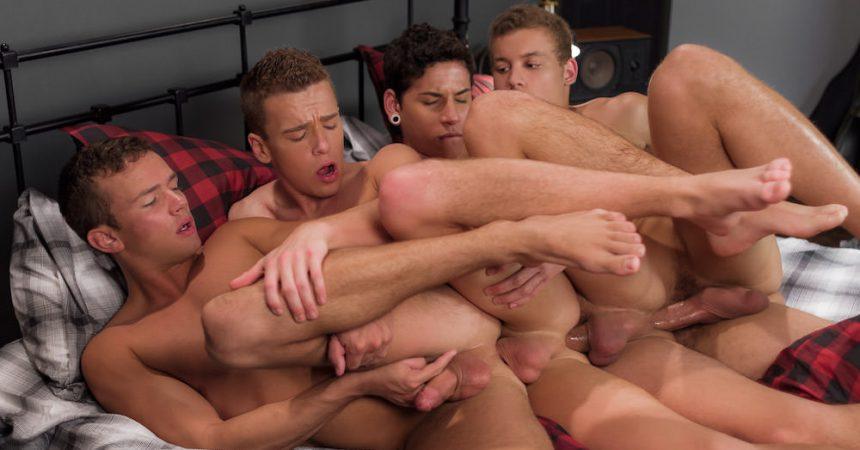 Bareback Twink Foursome