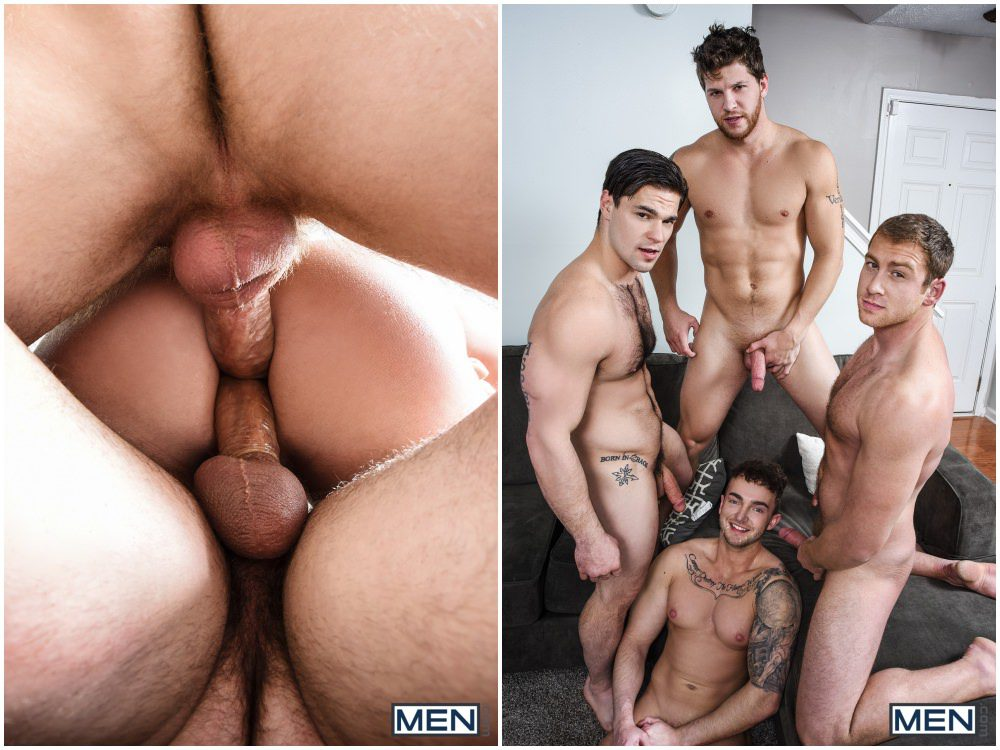 Handsome Jock Enjoys Double Penetration Fuck