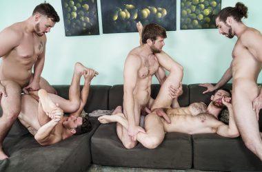 Five Stud Roommate Orgy