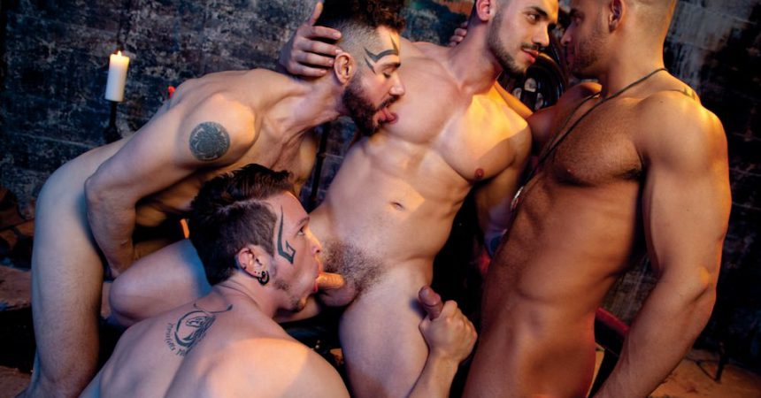 Muscle Stud Foursome