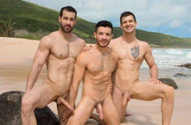 Bareback Beach Threesome