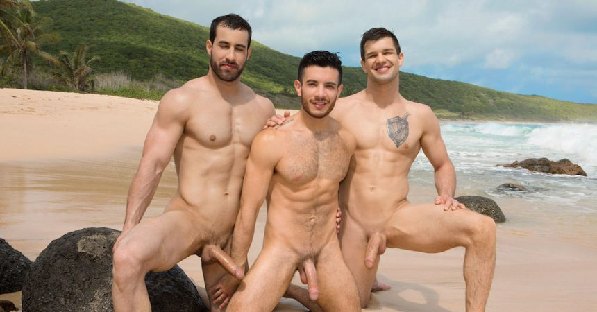 Beach gay cock anal photo