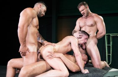 Skyy Knox Double Penetration Foursome