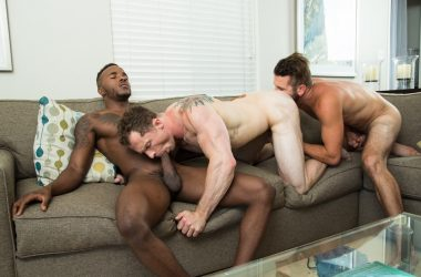Bareback Interracial Threesome