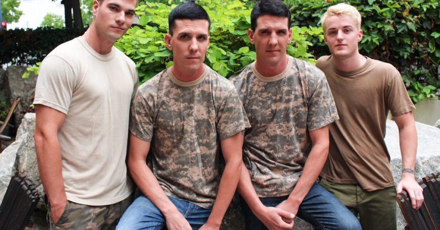 Bareback Foursome With Twins