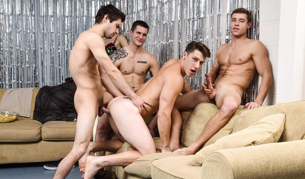 Frat gay male orgy, teasing maid porn videos