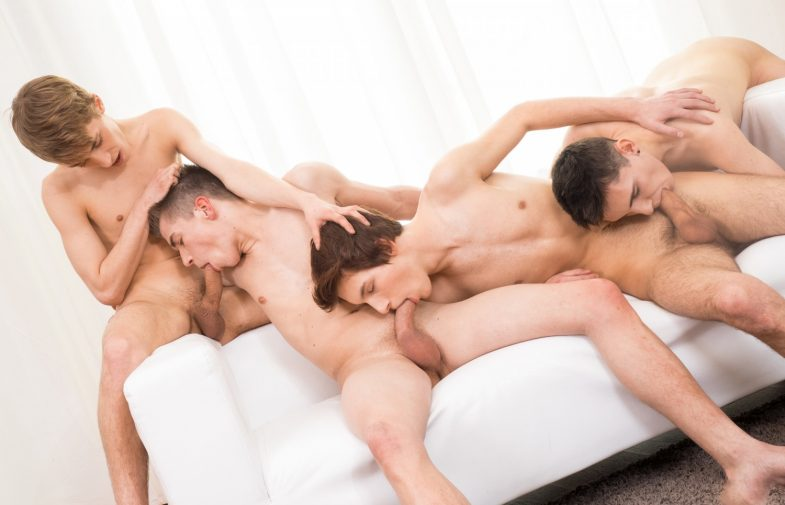 Bareback Euro Twink Foursome