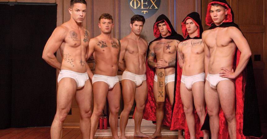 Bareback Fraternity Orgy
