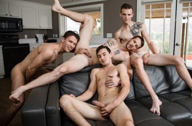 Quentin, Scott, Evan, & Ian Bareback Foursome