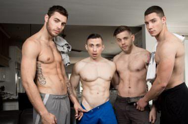 Bareback Fraternity Foursome
