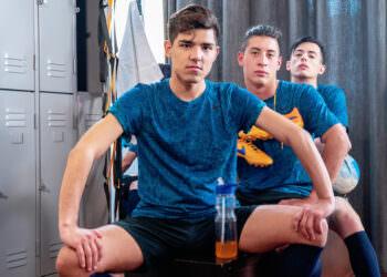 Bareback Twink Soccer Trio