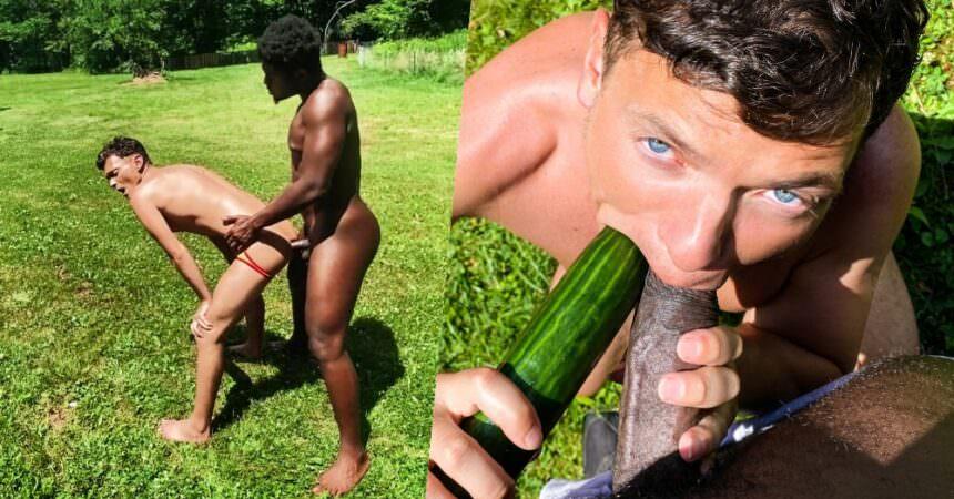 Bruno & Ty Bareback In The Garden
