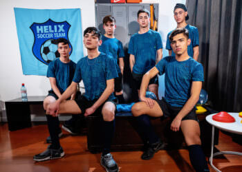 Twink Soccer Team Bareback Orgy