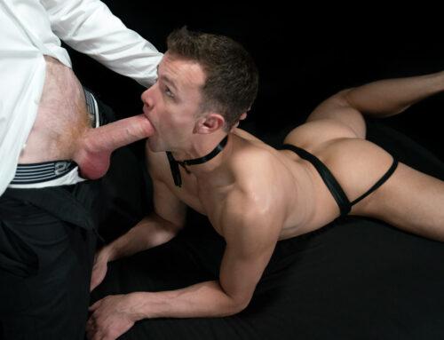 Slave Boy Logan Takes Masked Master's Load