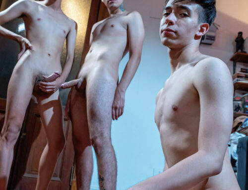 Buenos Aires Bareback Twink Threesome