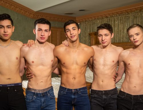 Helix Five-Way Bareback Twink Orgy