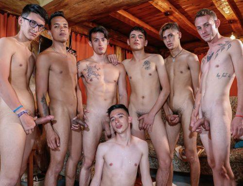 Bareback Latino Twink Orgy