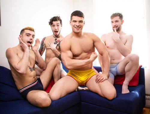 Malik Delgaty Fucks Sean Peek, Thyle Knoxx, & Dex Parker