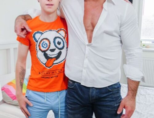 Jamie Kelvin Takes His Hunky Daddy's Dick